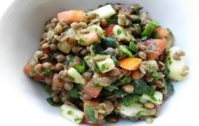 Linsen-Käse-Salat