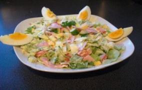 Käse-Puten-Salat